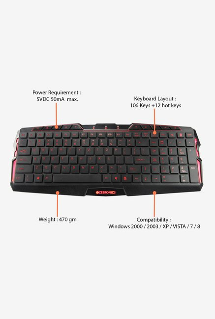 Zebronics Radiant Keyboard (Black)