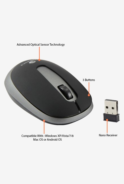 Zebronics Glide Wireless Mouse (Black)