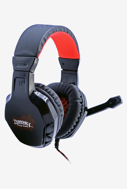 Zebronics Metalhead Over The Ear Headsets Black
