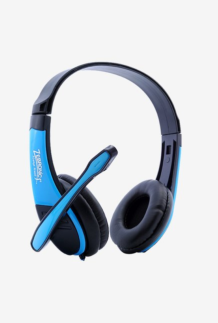 Zebronics Boltblue Over The Ear Headsets Blue