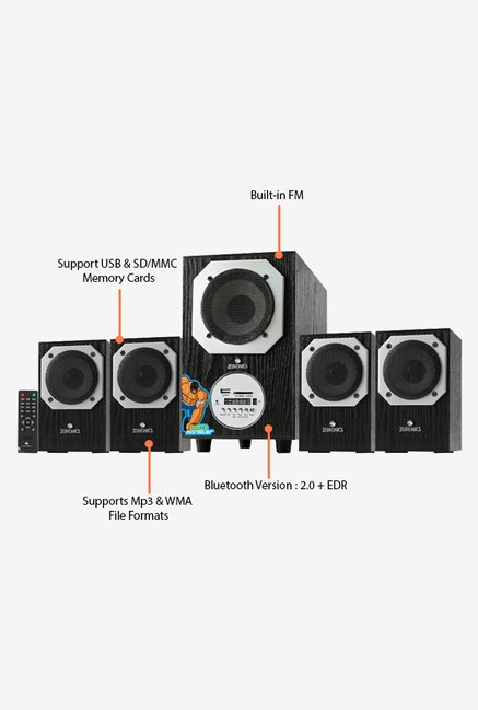 Zebronics BT4441RUCF 4.1 Ch Multimedia Speaker System (Black)