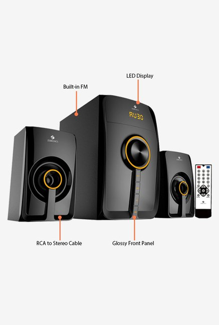Zebronics Sw3530rucf Computer Speakers Black