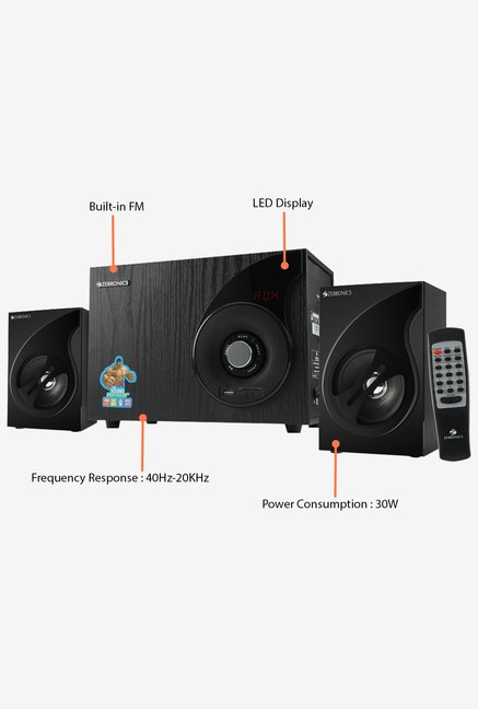 Zebronics Sw2494rucf Computer Speakers Black