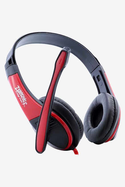 Zebronics Bolt Over The Ear Headsets Red