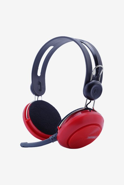 Zebronics Fusion On The Ear Headsets Red