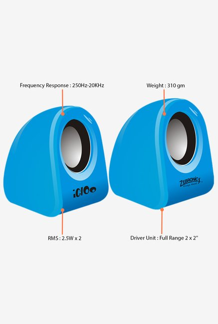 Zebronics Igloo Blue Computer Speakers Blue