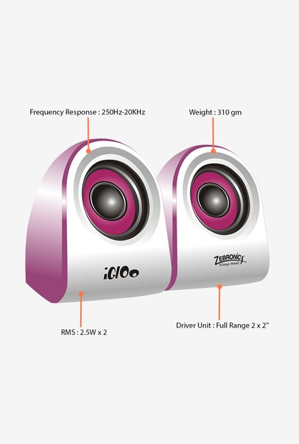 Zebronics Igloo Computer Speakers Purple