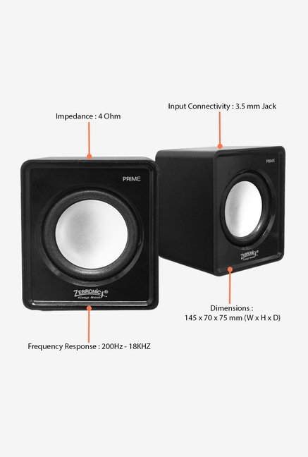 Zebronics Prime 2 Computer Speakers Black