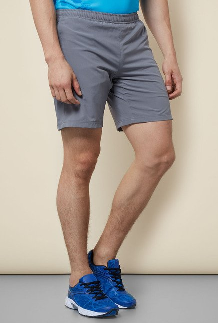 Lotto Grey Solid Shorts