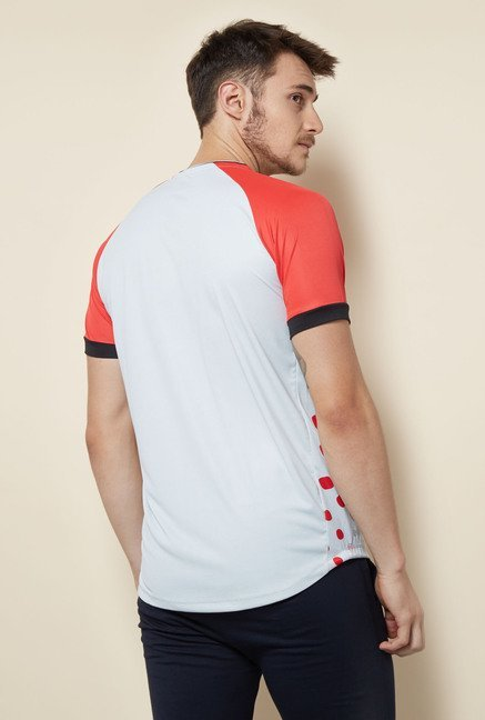 Lotto Red & White Printed Sports T Shirt