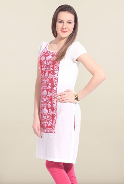 W White Cotton Kurta
