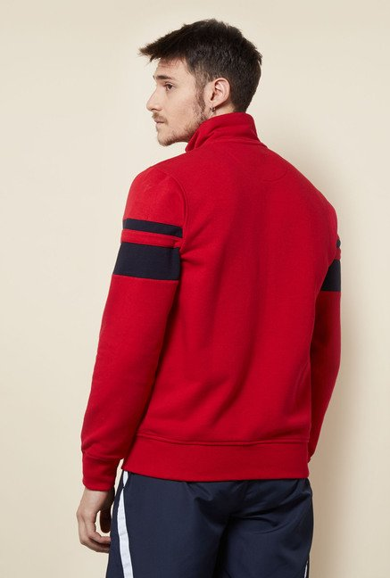 Lotto Red Solid Sweatshirt