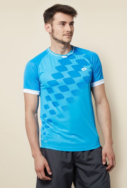 Lotto Blue Printed Sports T Shirt
