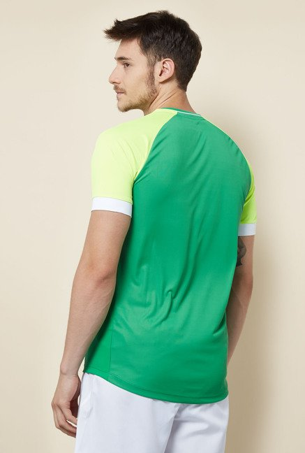 Lotto Lime & Green Printed Sports T Shirt