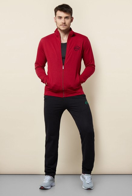 Lotto Cherry Red Solid Sweatshirt