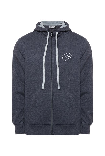 Lotto Dark Grey Solid Hoodie