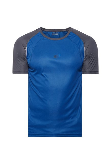 Lotto Blue Solid Sports T Shirt