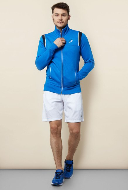 Lotto Blue Solid Sweatshirt