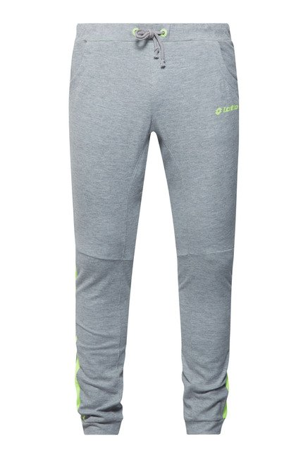 Lotto Light Grey Mid Rise Trackpant