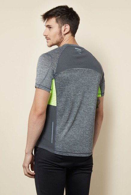 Lotto Grey Solid Sports T Shirt