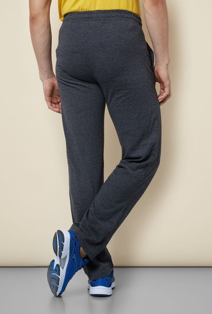 Lotto Dark Grey Solid Trackpant