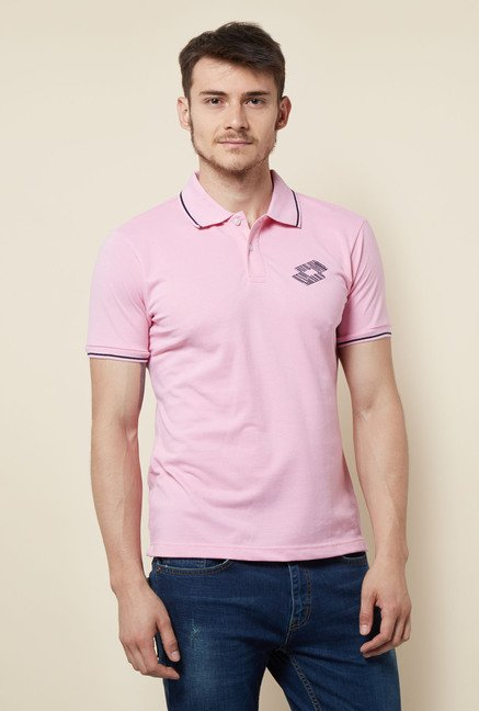 Lotto Pink Solid Polo T Shirt
