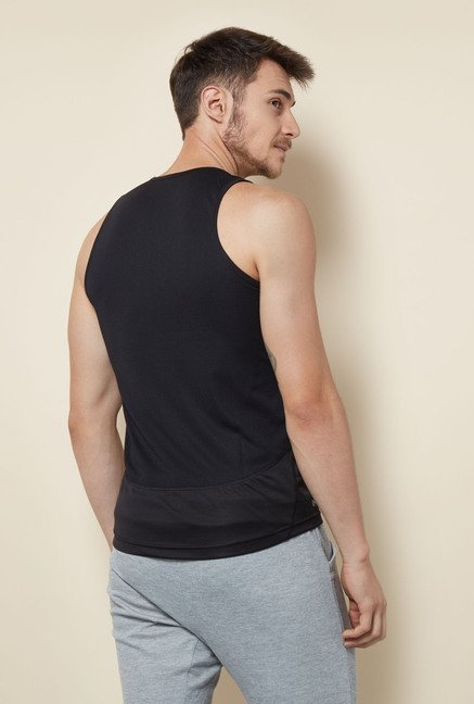 Lotto Black Sleeveless Sports Vest
