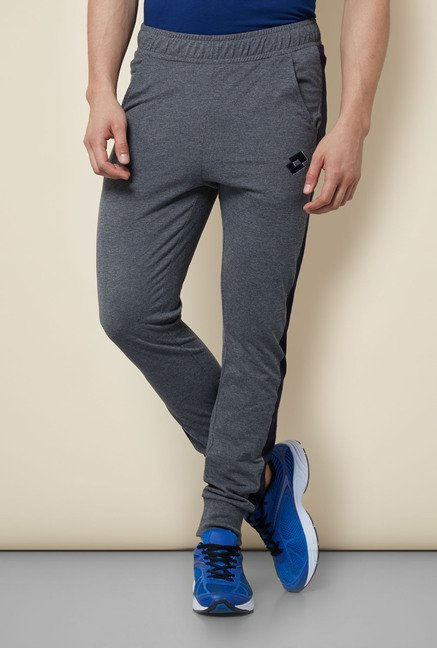 Lotto Grey Solid Trackpant