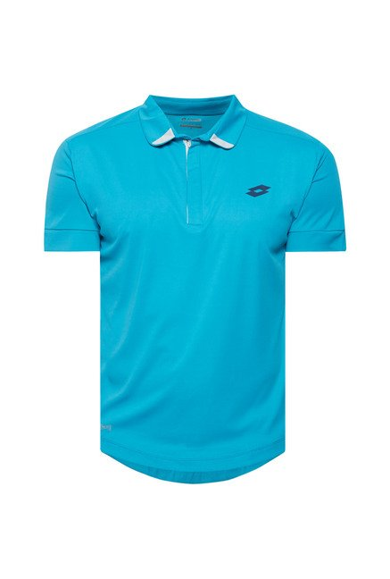 Lotto Teal Solid Sports T Shirt