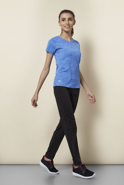 Lotto Blue Textured Sports T Shirt