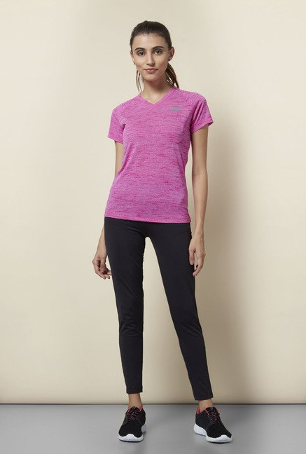 Lotto Pink Textured Sports T Shirt