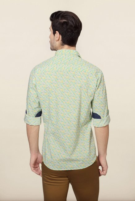 Van Heusen Green Printed Shirt