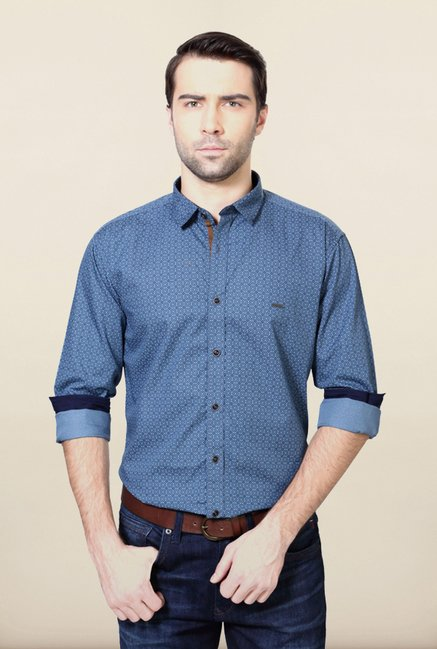 Van Heusen Blue Slim Fit Shirt