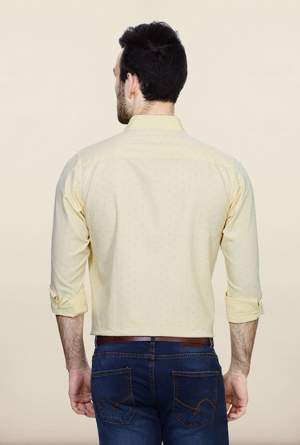 Allen Solly Yellow Printed Casual Shirt