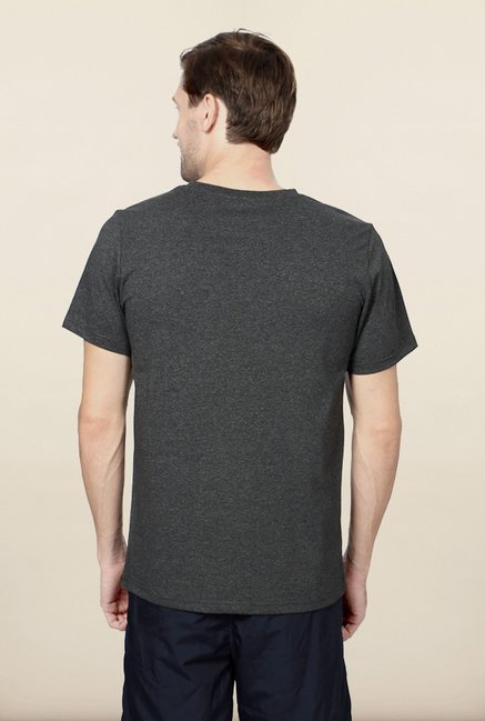 Allen Solly Grey Solid Sports Tshirt