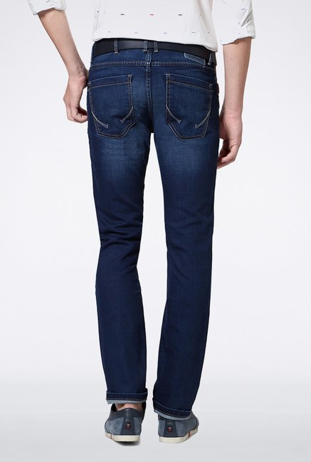 Allen Solly Dark Blue Solid Jeans