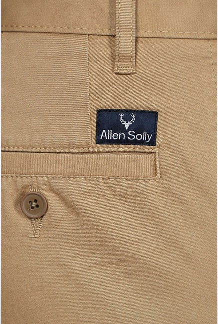 Allen Solly Khaki Casual Trouser