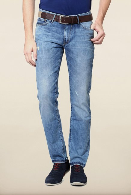 Allen Solly Blue Distressed Jeans