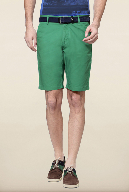 Allen Solly Green Casual Shorts
