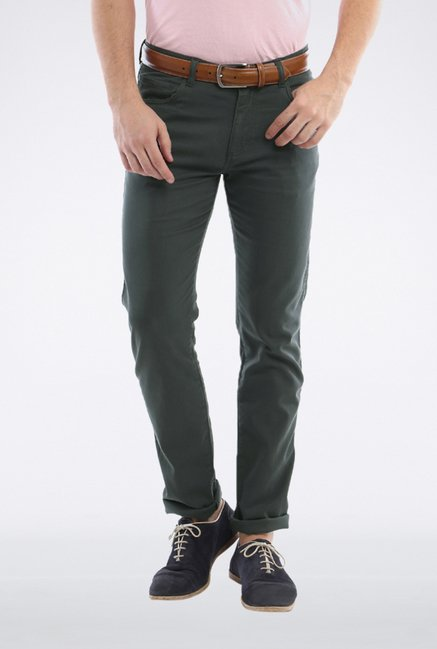Allen Solly Olive Casual Trouser