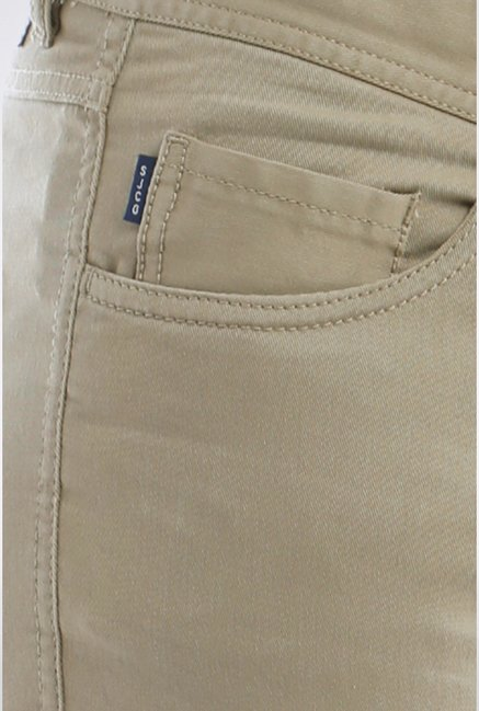 Allen Solly Beige Solid Casual Trouser