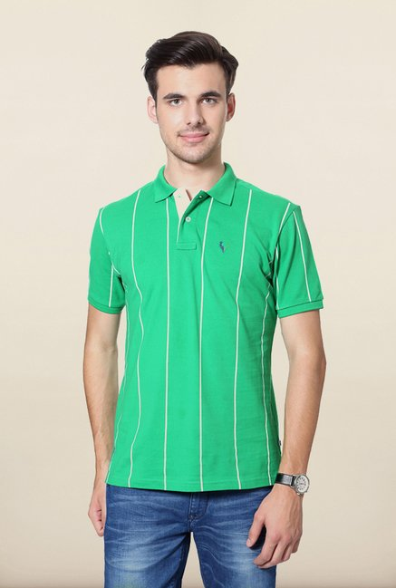 Allen Solly Green Wimbledon Polo T shirt