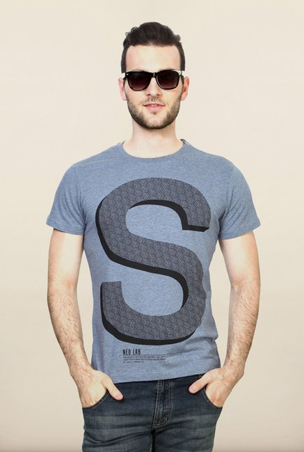 Allen Solly Blue Graphic T shirt