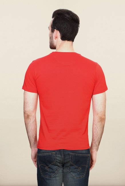 Allen Solly Red Graphic T shirt