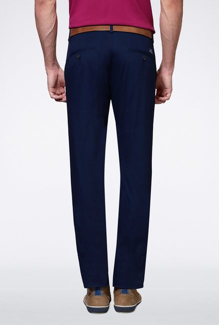 Allen Solly Blue Casual Trouser
