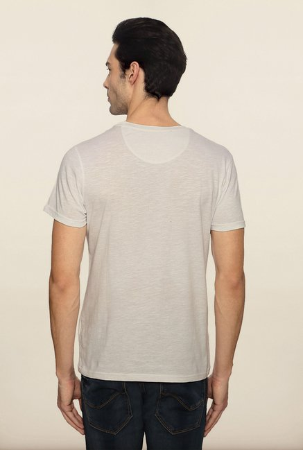 Allen Solly White Graphic T shirt