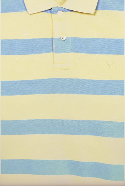 Allen Solly Yellow & Blue Polo T shirt