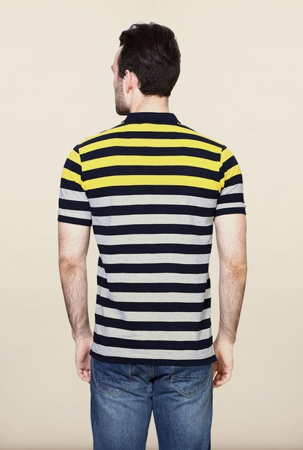 Allen Solly Navy & Grey Polo T shirt