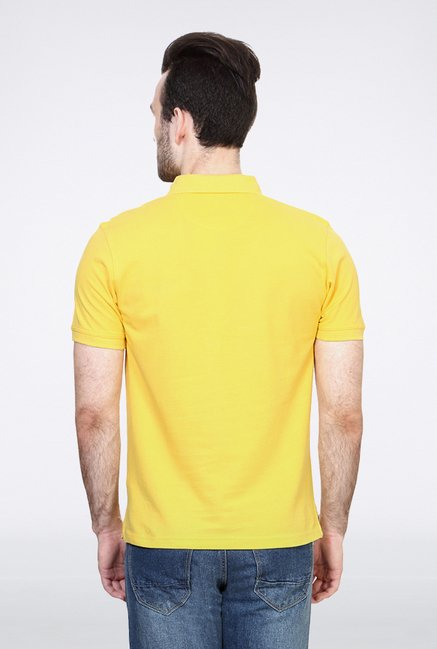 Allen Solly Yellow Striped Polo T shirt
