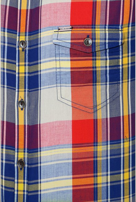 Peter England Multicolor Checks Casual Shirt